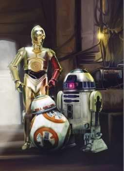 Fototapete 4-447 Star Wars Three Droids 184 x 254 cm